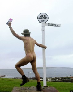 Naked Rambler completes his Lands End to john O Groats Walk