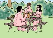 nudist cartoon
